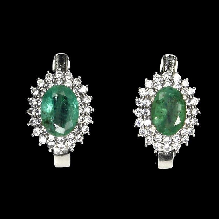 Delightful Genuine Emerald Huggie Earrings.