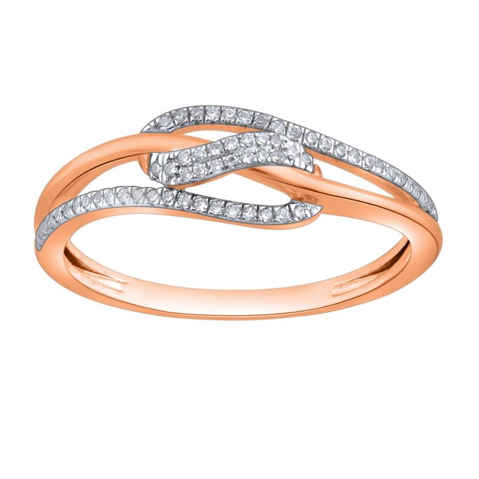 9ct Rose Gold, 0.09ct Diamond Ring