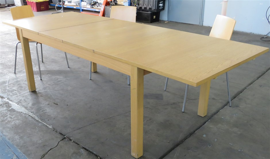 Extension Dining Table, with 3x Chairs