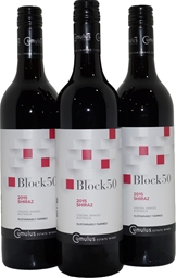 Cumulus Block 50 Shiraz 2015 (3x 750mL), Orange, Screwcap.