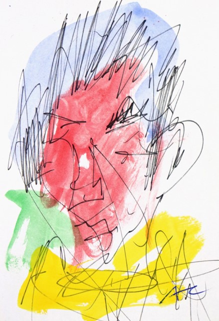 ADAM CULLEN (b.1965-2012) ORIGINAL Gouache & Ink Painting by Adam Cullen