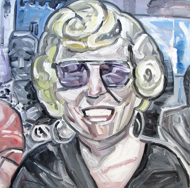 James FREIBERG (b.) Oil Painting on Canvas, Title: 'Game Show Contestant..'