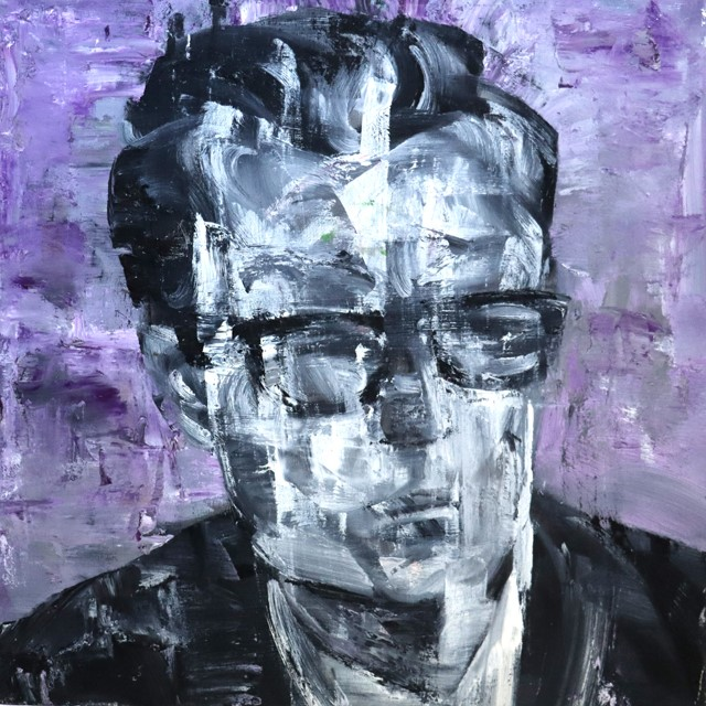 James FREIBERG (b.) Oil Painting on Stretched Canvas, Title : 'Johnnie D'