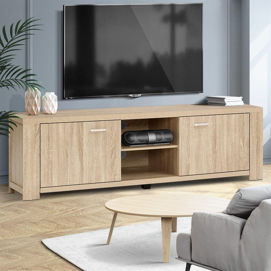 Artiss TV Cabinet Entertainment Unit Display Shelf Storage Cabinet Wooden