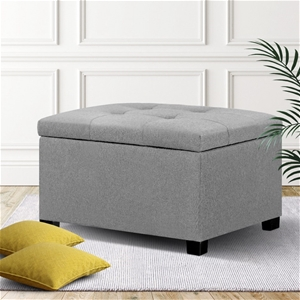 Artiss Storage Ottoman Blanket Box Linen