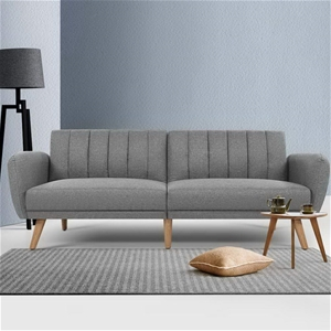 Artiss Sofa Bed 3 Seater Futon Couch Rec