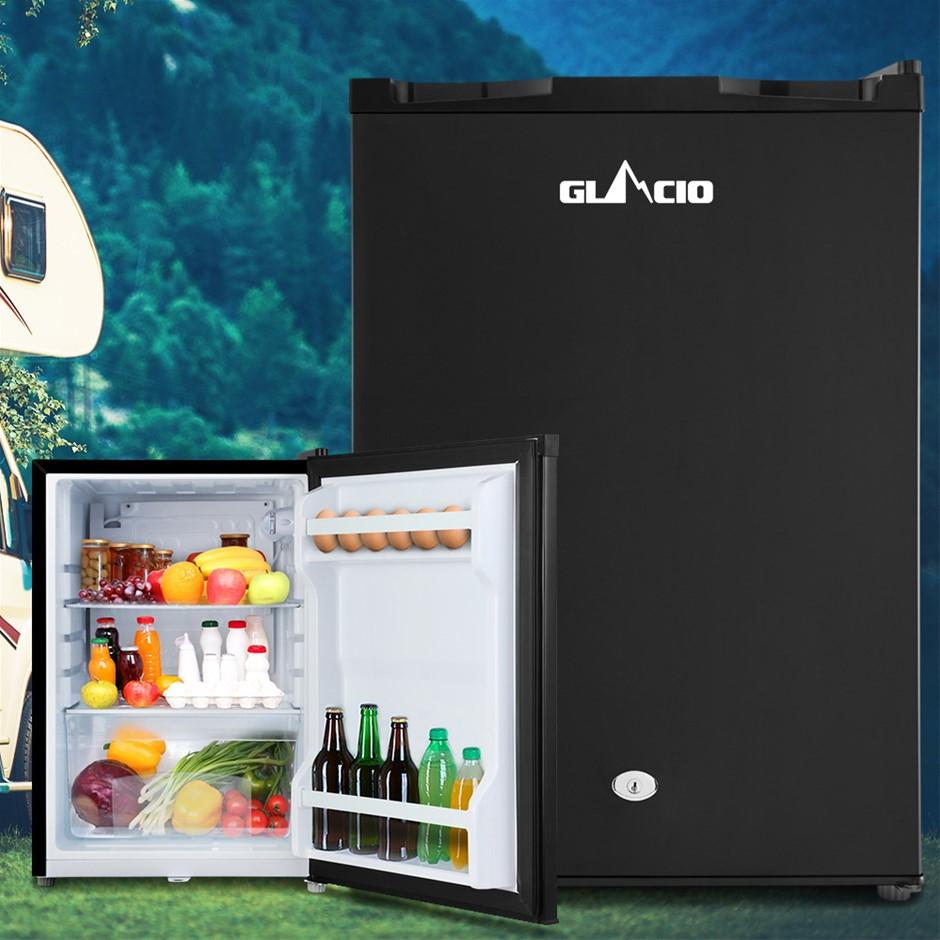 Glacio 80L Portable Fridge Bar Freezer Cooler Upright 12V/24V/240V BLK