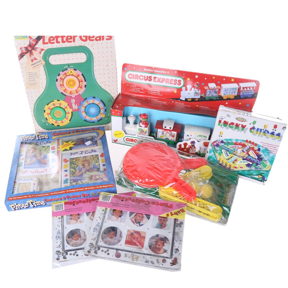 Circus Express & Luck Chess Picture Frames & Toy Camera, Letter Gears & Tab