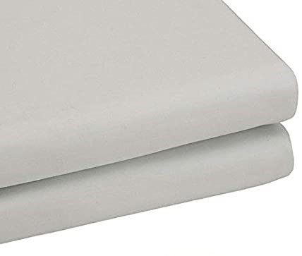 BAMBURY Tru-Fit Fitted Sheet, Single, Silver. 100% Cotton. 91 x 193 x 40cm.