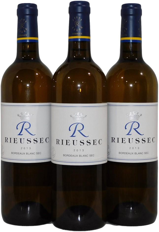 Domaines Barons De Rothschild Rieussec Bordeaux Blanc Sec 2013 (3x 750mL)