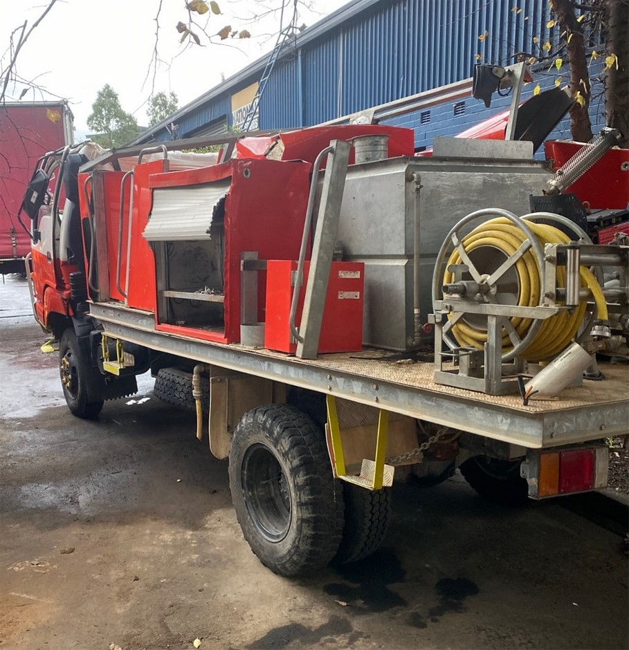 Accident Damaged Fire Truck Body