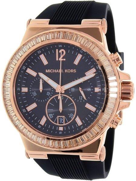 New Michael Kors Couture NY goldplated unisex quartz chrono watch.