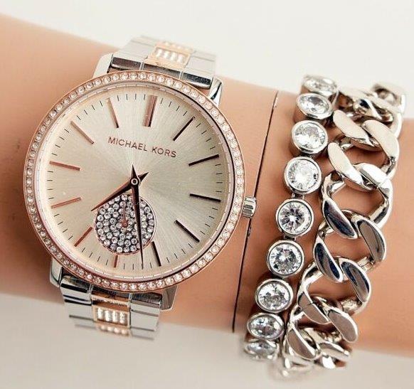 Ladies unworn Michael Kors couture NY 'Jaryn' luxury gemstone watch.