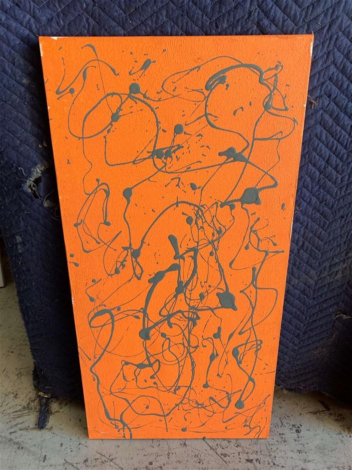 Canvas Pain Wall Décor, Orange, Approx.(mm) 460 W x 910 H (272963-98)