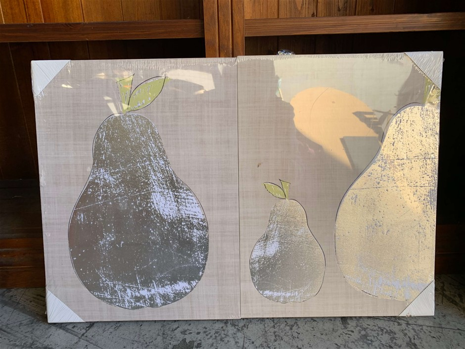 Set of 2 Canvas Wall Décor, Pears, Approx.(mm) 300 x 400 each (272963-103)
