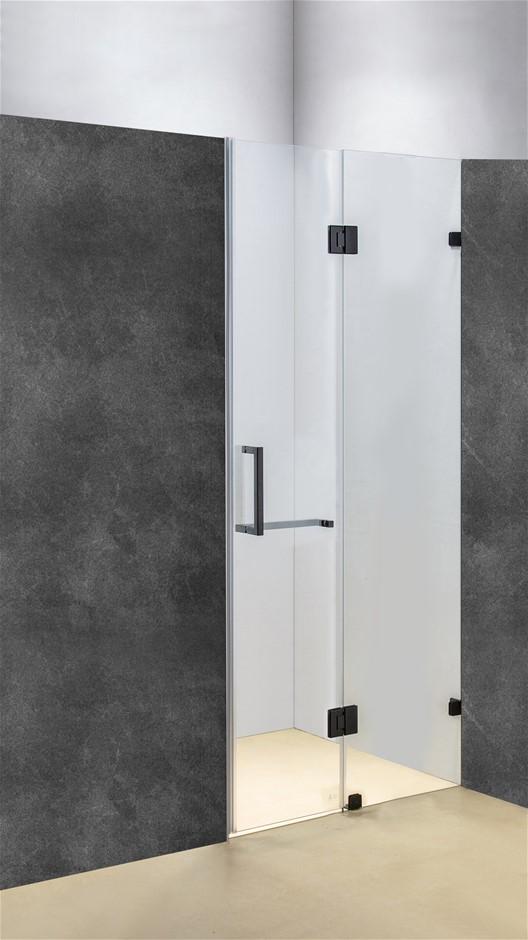120 x 200cm Wall to Wall Frameless Shower Screen 10mm Glass Della Francesca