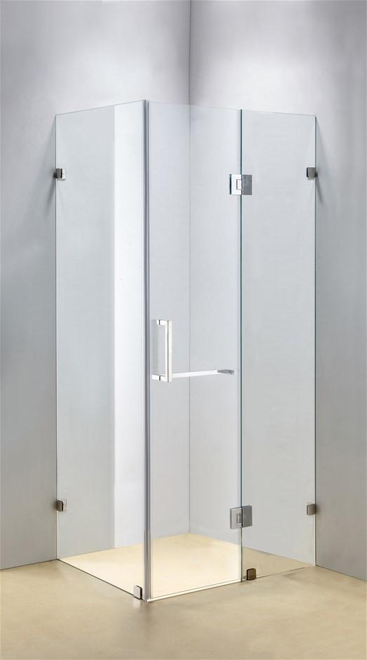 1200 x 700mm Frameless 10mm Glass Shower Screen Della Francesca