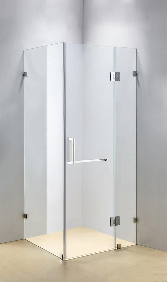 900 x 700mm Frameless 10mm Glass Shower Screen Della Francesca