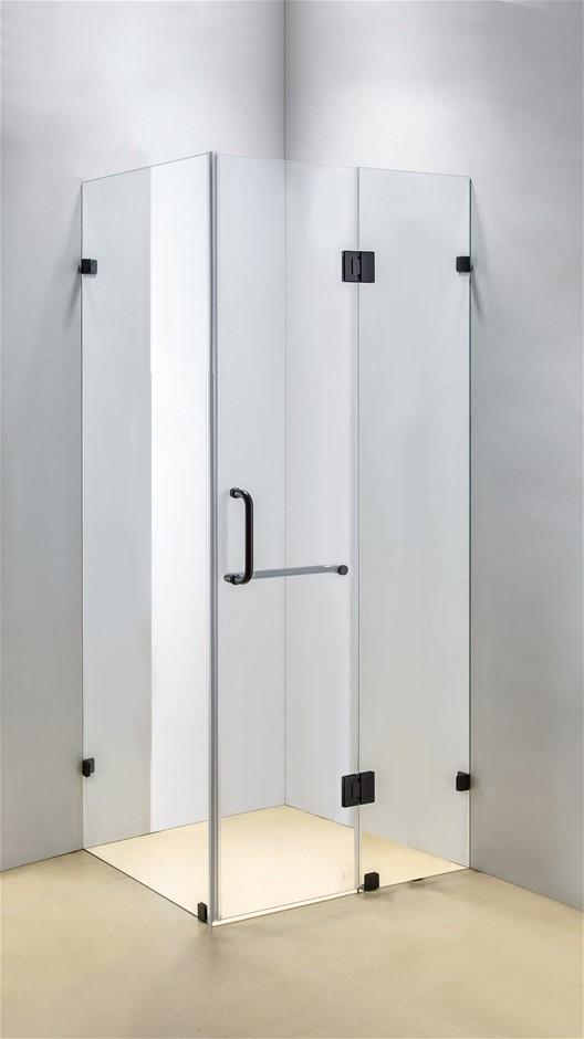 1100 x 800mm Frameless 10mm Glass Shower Screen Della Francesca