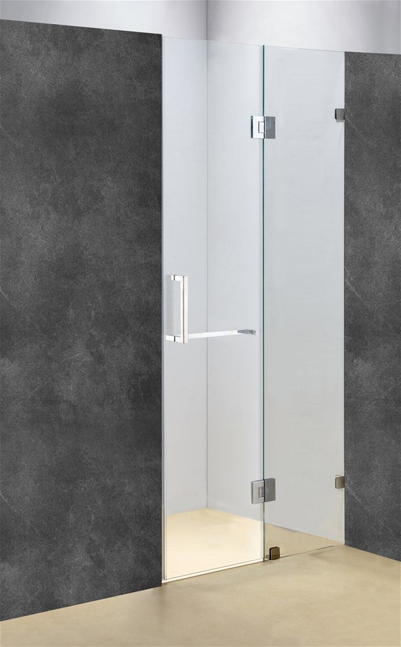 110 x 200cm Wall to Wall Frameless Shower Screen 10mm Glass Della Francesca