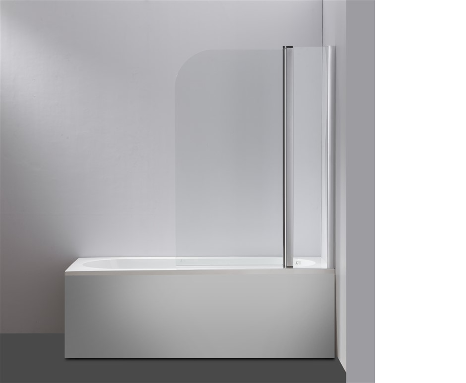 180 Pivot Door 6mm Safety Glass Bath Shower Screen 1200x1400mm