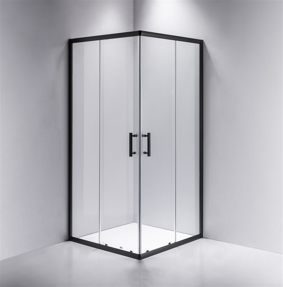 800 x 800mm Sliding Door Nano Safety Glass Shower Screen Della Francesca