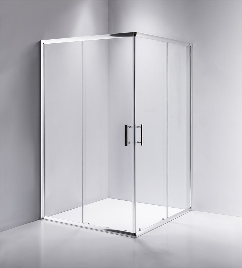 1000 x 1000mm Sliding Door Nano Safety Glass Shower Screen Della Francesca