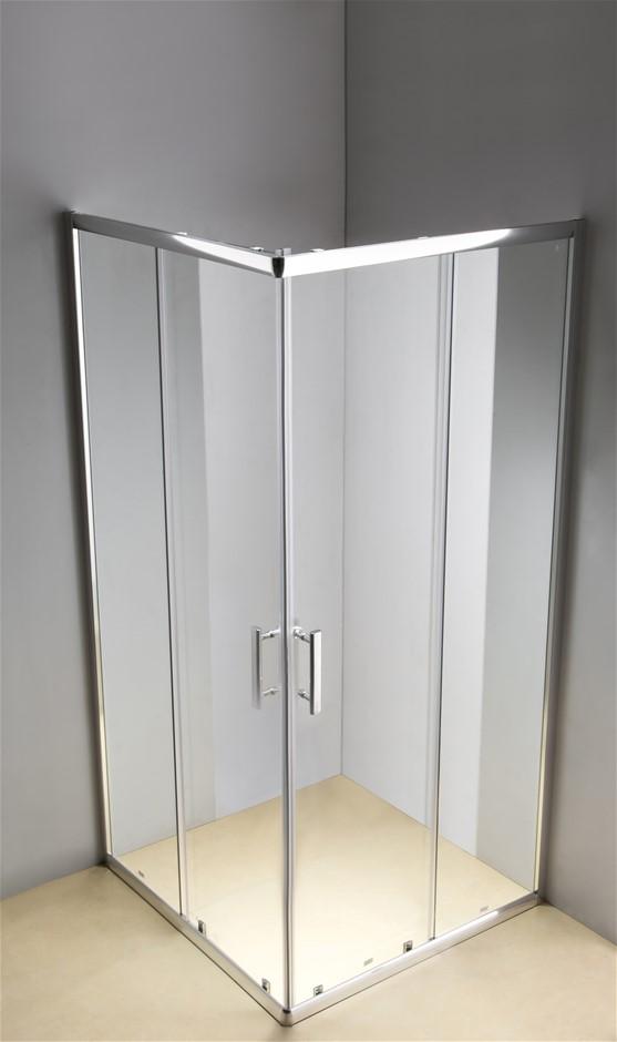 800 x 900mm Sliding Door Nano Safety Glass Shower Screen Della Francesca