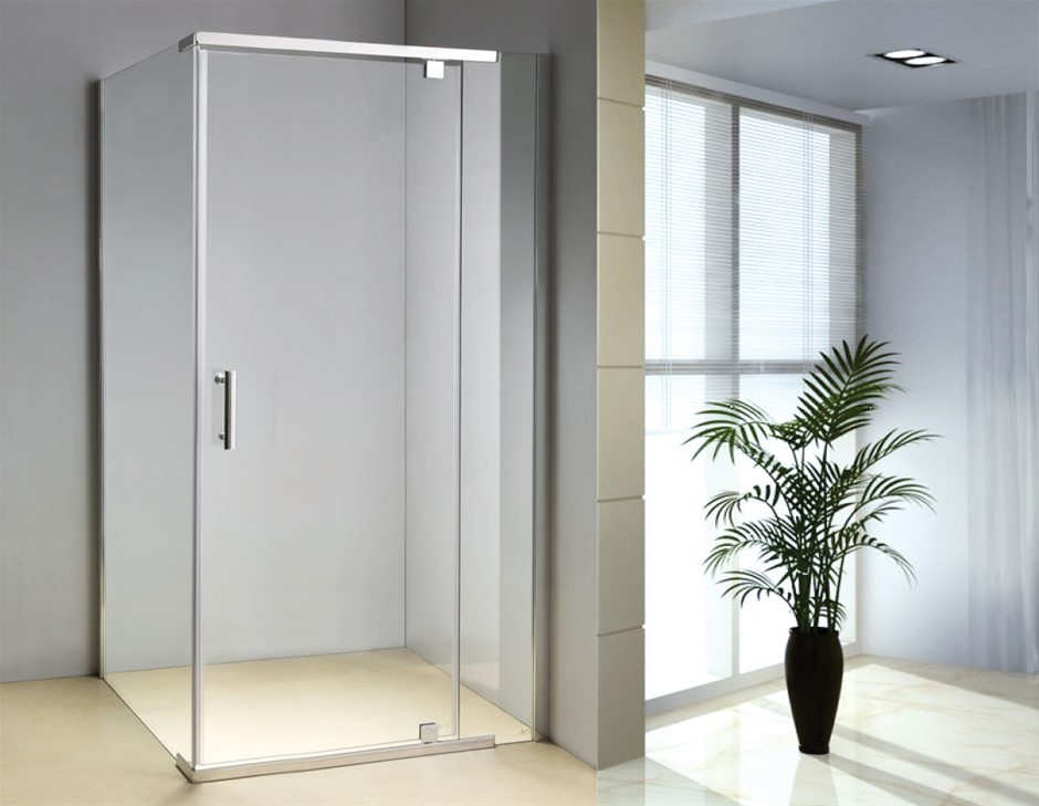 Shower Screen 1200x800x1900mm Framed Safety Glass Pivot Door