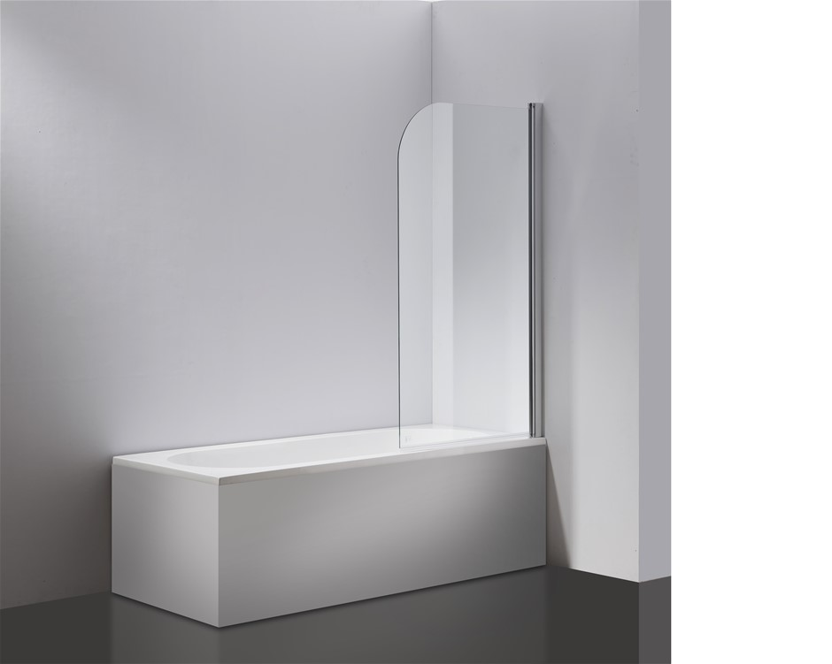 Pivot Door 6mm Safety Glass Bath Shower Screen 900x1400mm Della Francesca