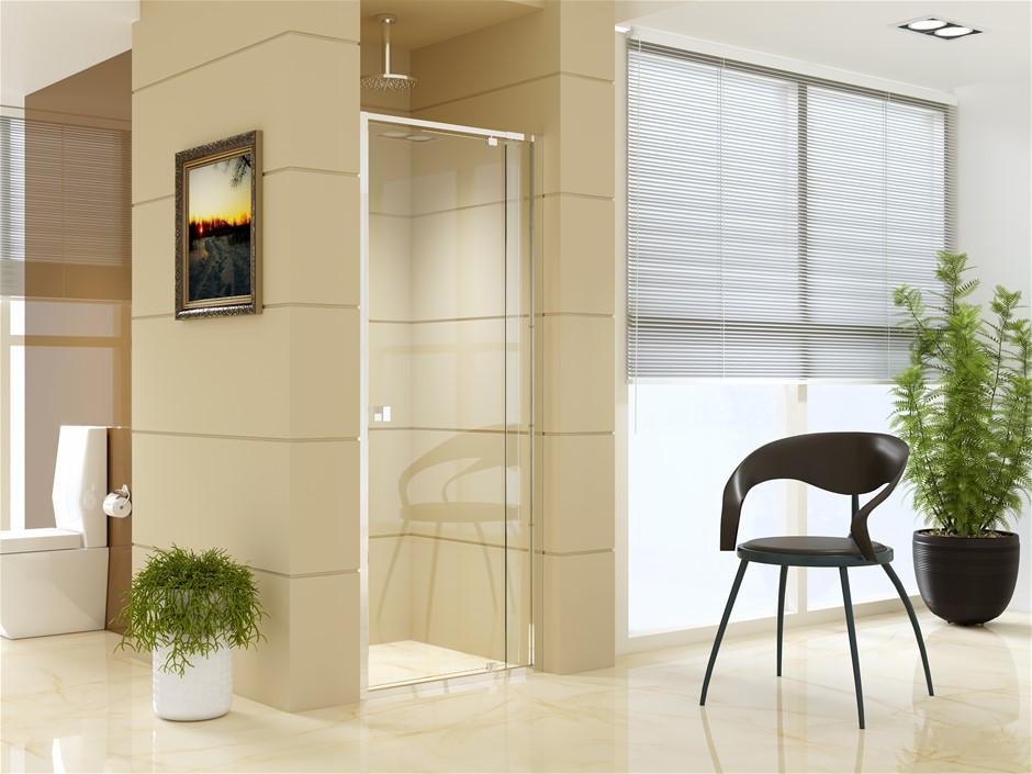 Adjustable Semi Frameless Shower Screen (74~82) x 195cm AS Glass
