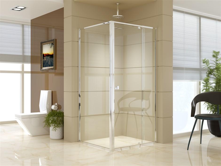 Semi Frameless Shower Screen (98~106)x 195cm & (89~92)x 195cm Side