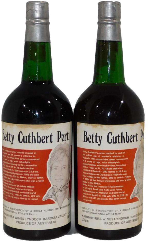 Karrawirra Betty Cuthbert Port 1976 (2x 739mL), SA. Cork