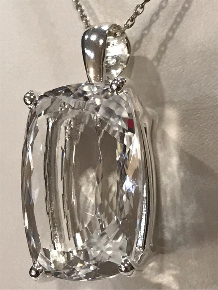 Beautiful 22.20ct Cushion Cut Crystal Pendant