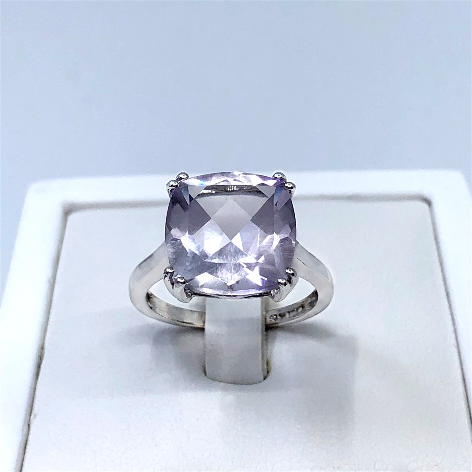 Stunning 6.33ct Pink Amethyst Ring
