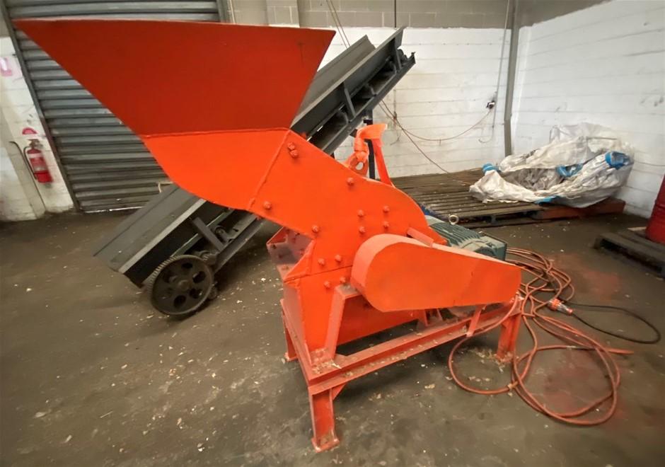 Hammer shredder machine (orange)