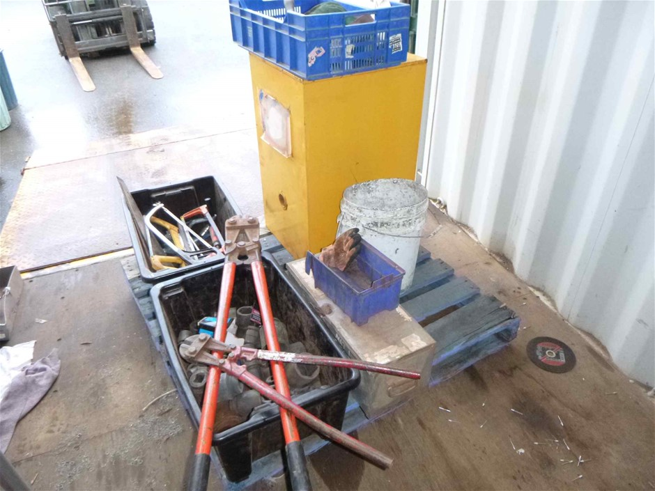 Pallet of Hand Tools and Impact Sockets