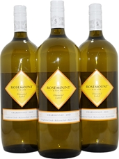 Rosemount Diamond Label Chardonnay 2015 (3x 1.5L), SA. Screwcap.