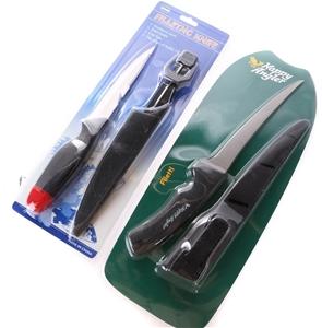 2 x Fish Filleting Knives c/w Sheath. Bu