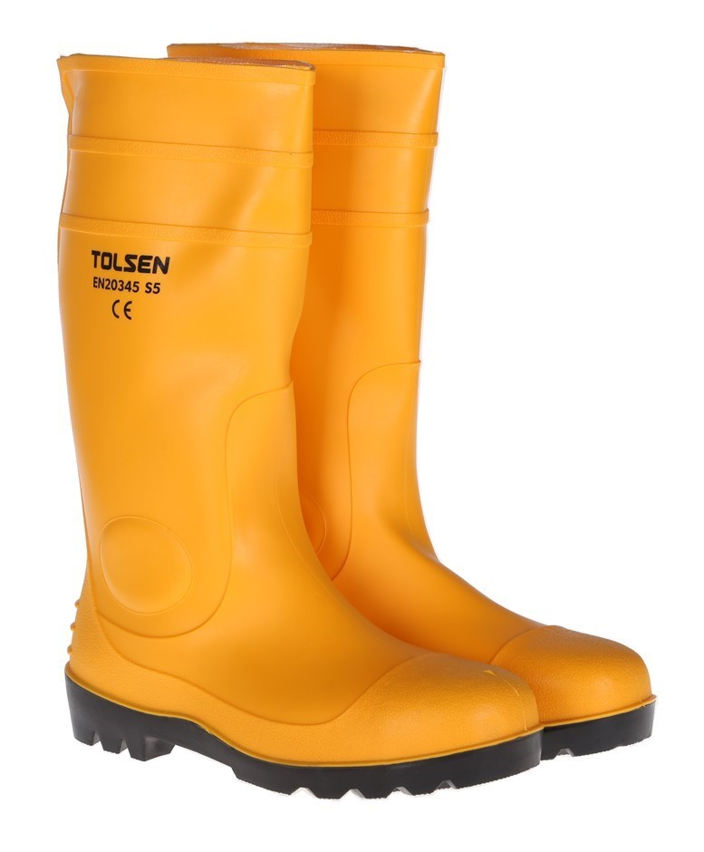 Pair TOLSEN Safety Gum Boots, UK Size 8, US Size 9. Buyers Note - Discount
