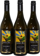Settlers Rise Reserve Chardonnay 2004 (3x 750mL), Granite Belt. Screwcap
