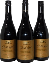 Wolf Blass Gold Label Shiraz Viognier 2005 (3x 750mL), Adelaide Hills.