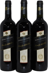 Zema Family Selection Cabernet Sauvignon 1999 (3x 750mL), Coonawarra. Cork