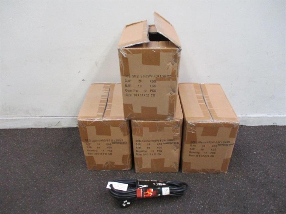 4 x Cartons 5m IEC Black Piggy Back Leads
