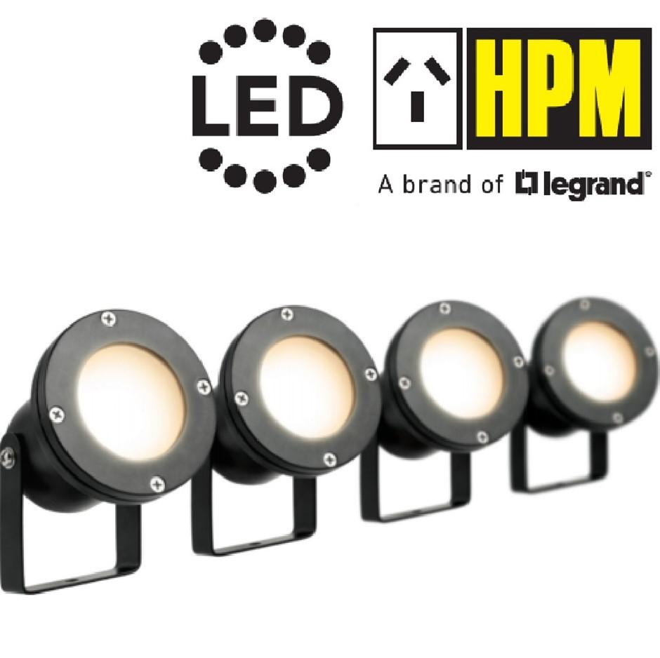HPM 12V LED Garden Light Pond Spotlights MR16 IP68 Waterproof DIY (4 Pack)