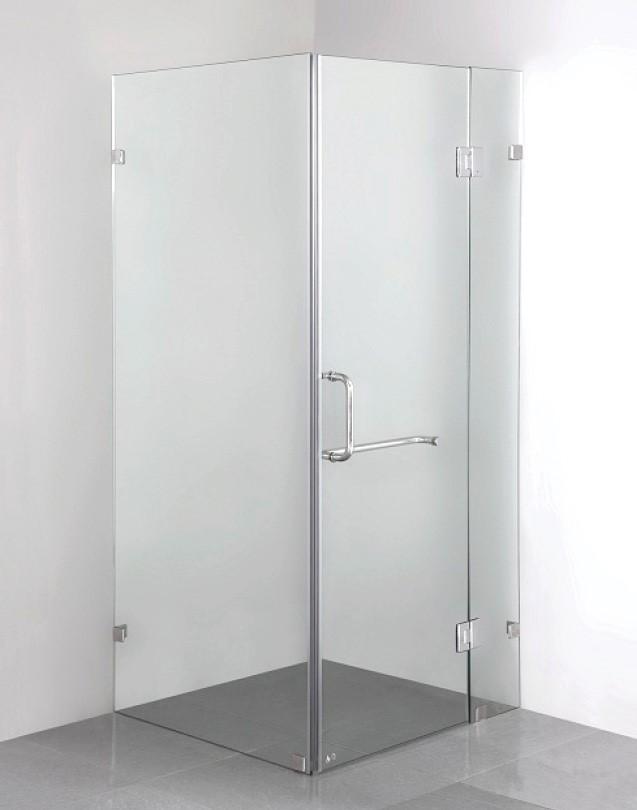 900 x 900mm Frameless 10mm Glass Shower Screen Della Francesca