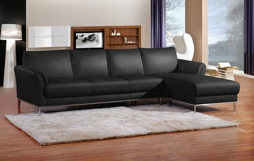 Marlene 4 Seater Lounge with Chaise - Black
