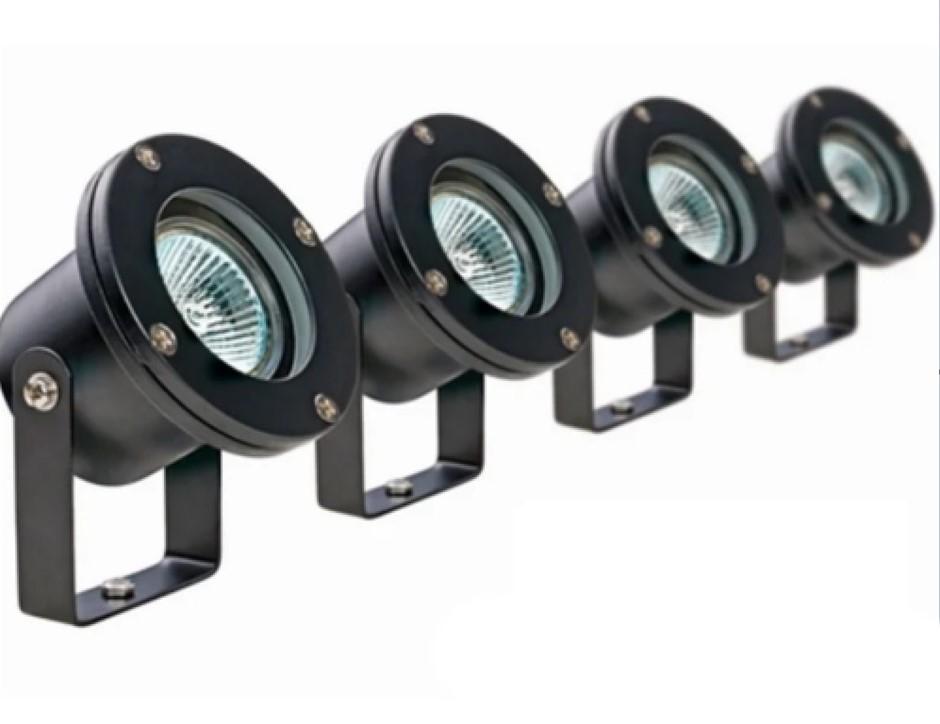 HPM 12V Garden Light Pond Spotlights 20W MR16 IP68 Waterproof DIY (4 Pack)