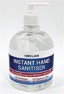 3 x MEILAN 500ml Hand Sanitiser Gel 75%