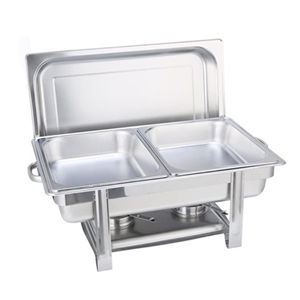 SOGA Double Tray Stainless Steel Chafing